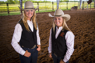 Sisters Kynzie and Kenna McNeill bring their skills to OSU Rodeo Team