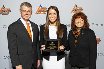 Alva's Cathy Mapes named CASNR outstanding freshman
