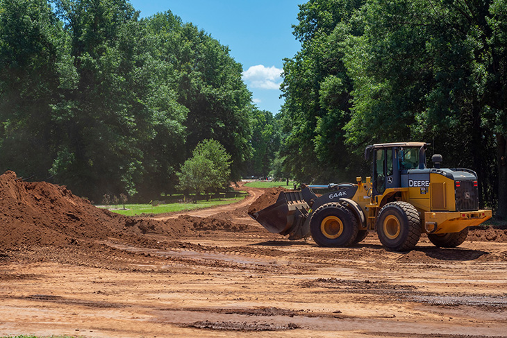 Botanic Garden road construction.