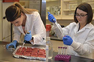 Feeding Success: Food science students honored with Gilliland Memorial Fellowship