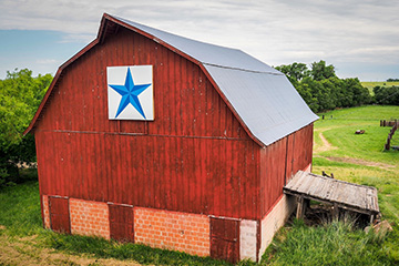 Barn quilts brighten up the rural countryside
