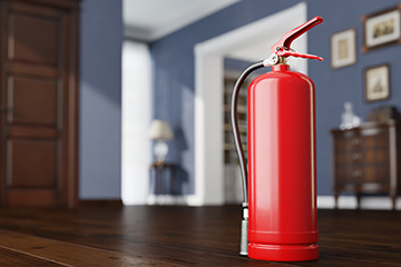 Know the A-B-C's of fire extinguisher use