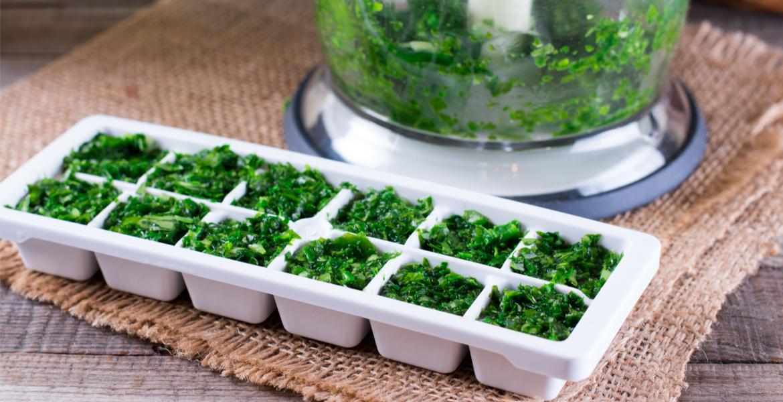 Fresh herbs maintain flavor better when frozen, not dried