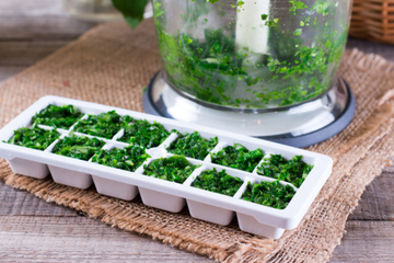 Fresh herbs maintain flavor better when frozen, not dried