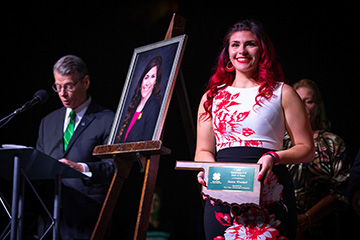 Woodard honored with top award at State 4-H Roundup