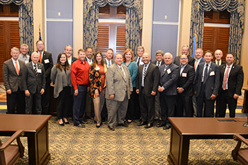Food industry leaders meet with legislators at State Capitol