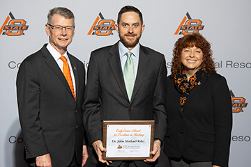 Riley honored with Early Career Award for Excellence in Teaching