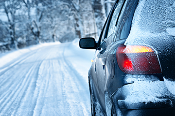 Be prepared while on the road in winter weather