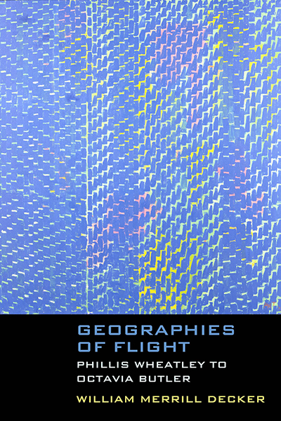 "Cover art for Geographies of Flight comes from African American painter Alma Thomas' 1973 piece ""Celestial Fantasy."""