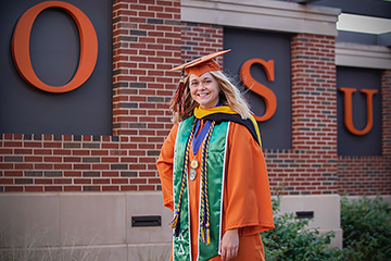 Strategic communication major named CAS Orange Gown Graduate