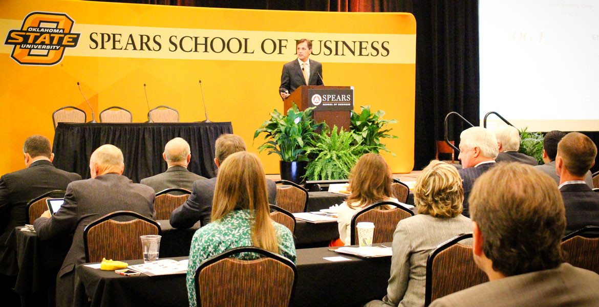 OSU Spears School of Business conference attendees