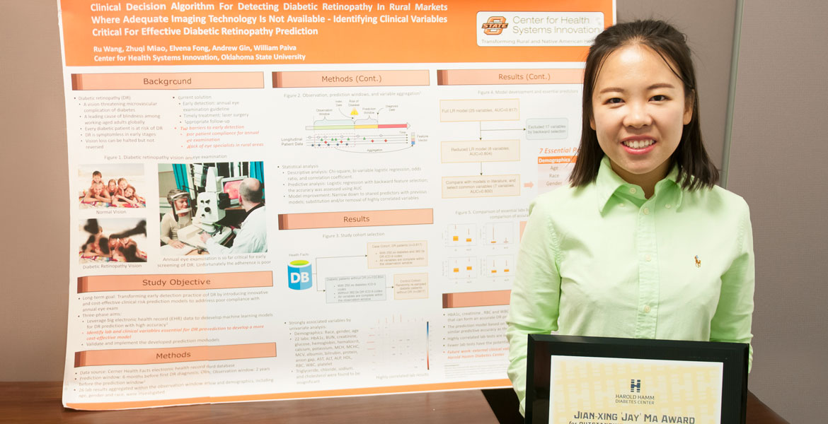 Student wins award for poster presentation