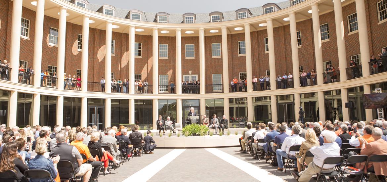 Business Building dedication ceremony