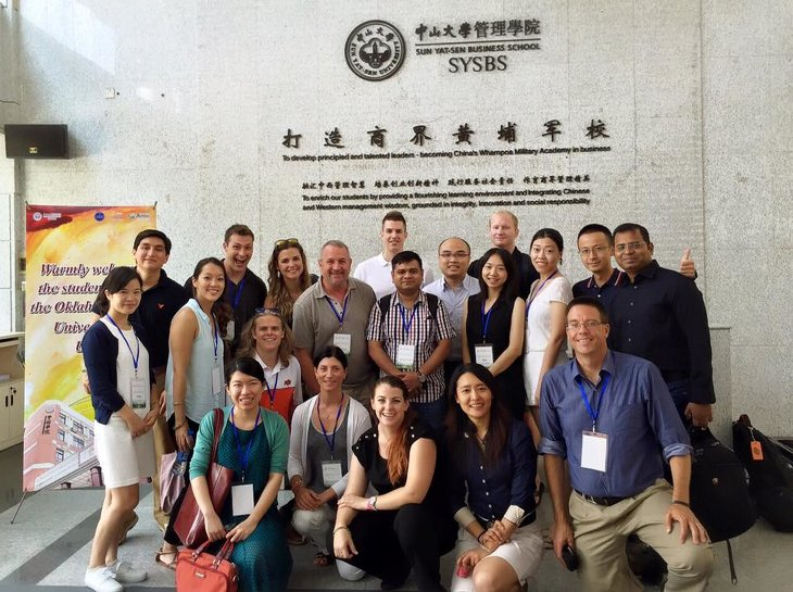 Graduate students in China for study abroad exchange.