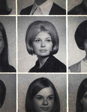 Mary Logan's yearbook picture