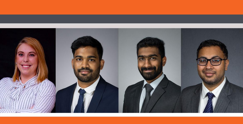 Taylor Murray, Vinil Rayala, Kalyan Alisetty and Jaswinder Singh