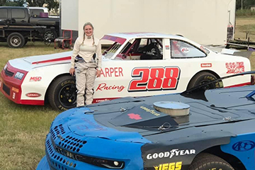 OSU student Rachel Harper doubles as a race car driver