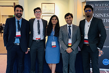 Five OSU business analytics students present at Southeast SAS® Users Group Conference