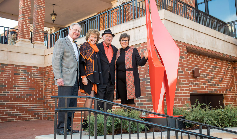 Allan Houser sculpture Abstract Orange takes OSU orange to new level