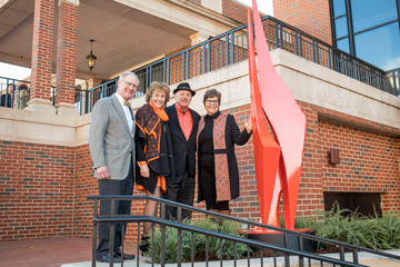 Allan Houser sculpture Abstract Orange takes OSU orange to new level
