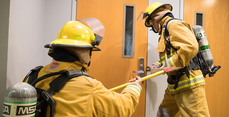 OSU-OKC firefighter student training.