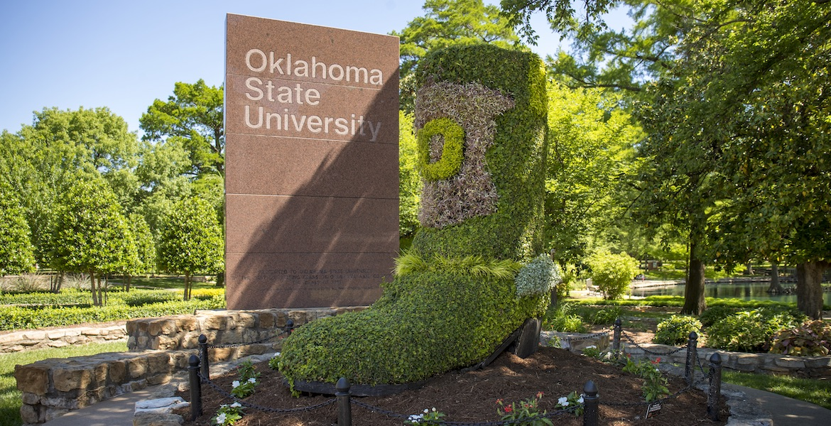 Boot Topiary at Oklahoma State University
