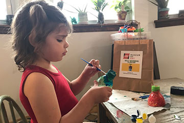 Free art kits bring the museum home
