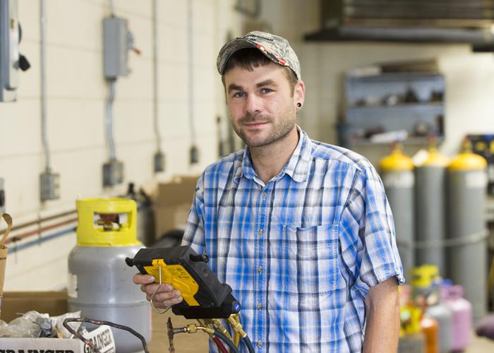 Gerrod Forquer, HVAC and refrigeration mechanic for Facilities Management