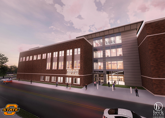 Michael and Anne Greenwood School of Music rendering