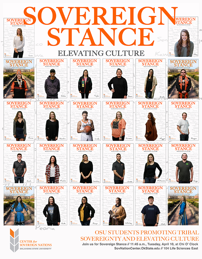 Sovereign Stance Elevating Culture Poster with students