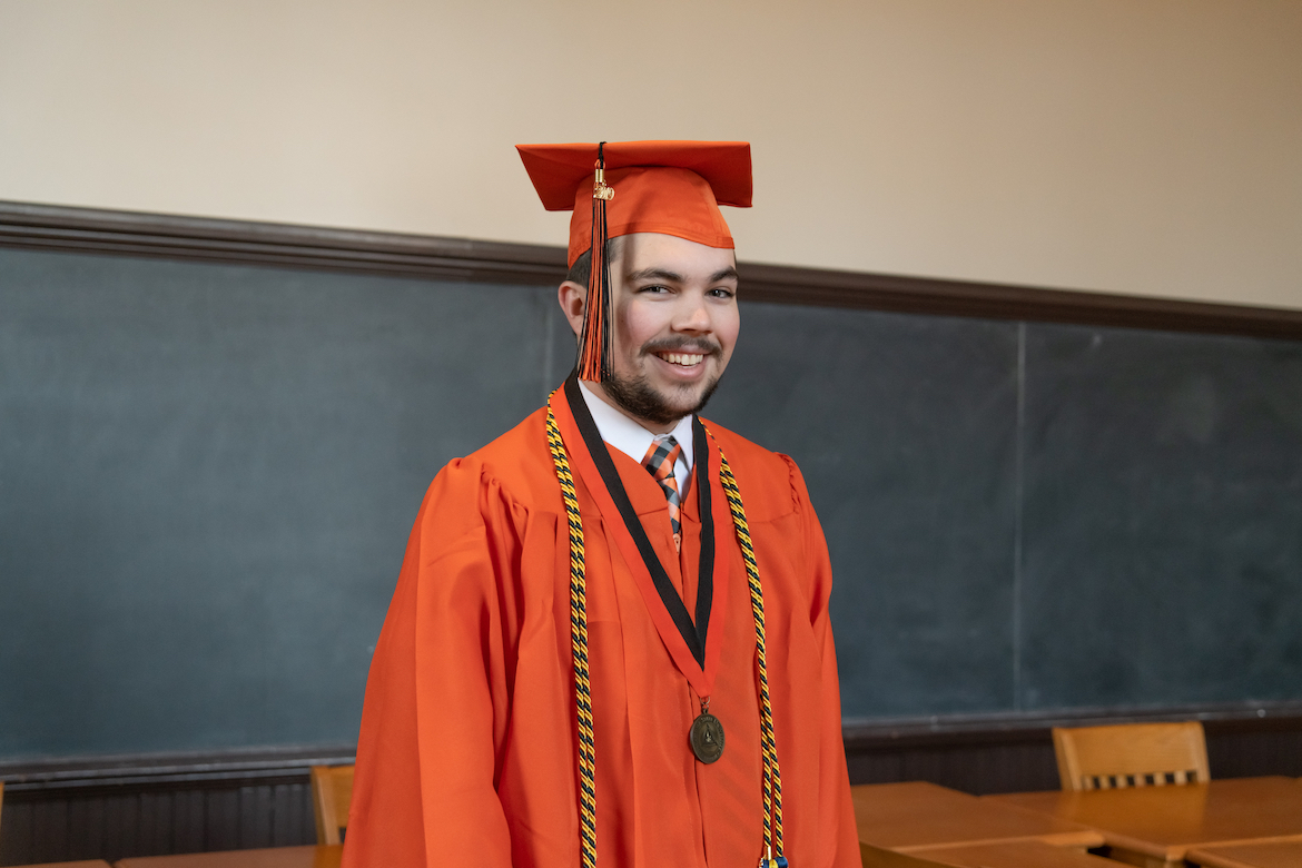 Orange Gown Graduate And Triple Major Bound For Law School News And Information Oklahoma State University