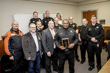 Chief recognized for 25 years with OSUPD