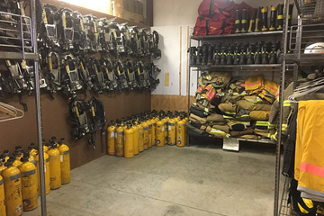 OSU's Fire Protection Society builds space for equipment