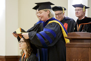 OSU Honors College students hooded at annual ceremony