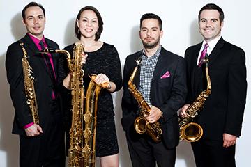 Award-winning sax quartet to premier new works at free concert