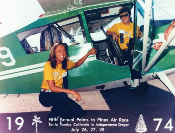 1. Wally Funk, left, loves the thrill and camaraderie of international and U.S. racing. She's participated in her favorite, the Palms to Pine Air Race, for many years.