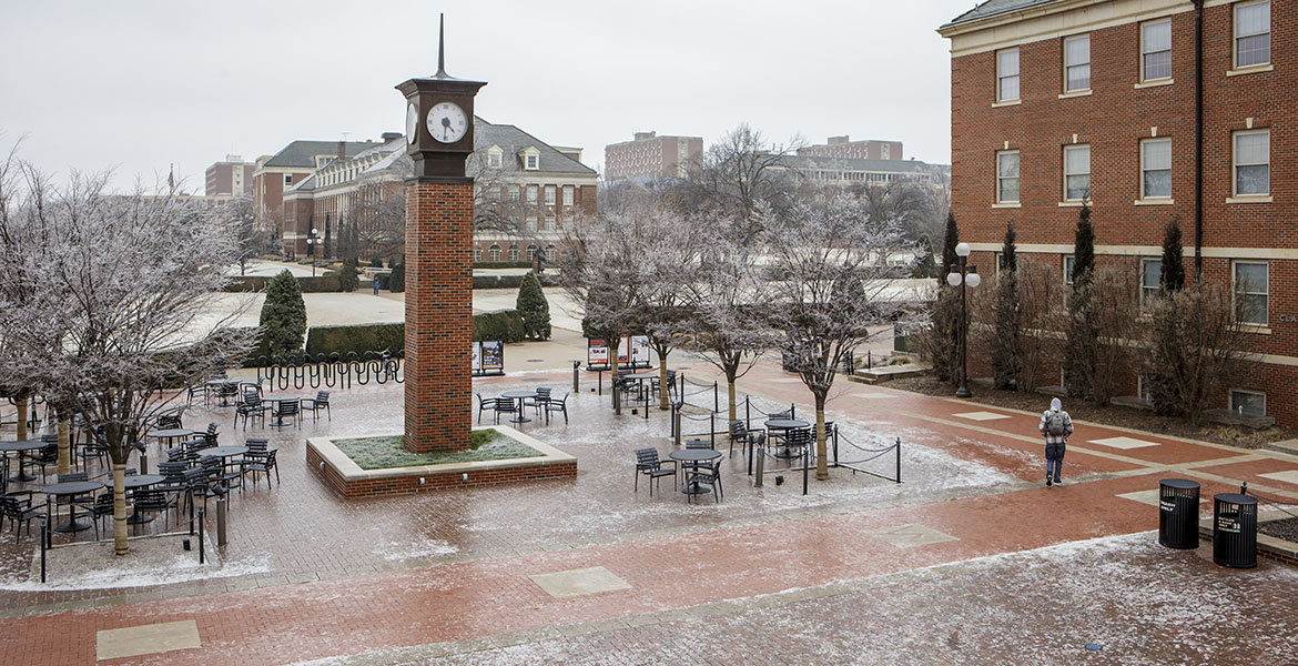 OSU Campus in the Winter