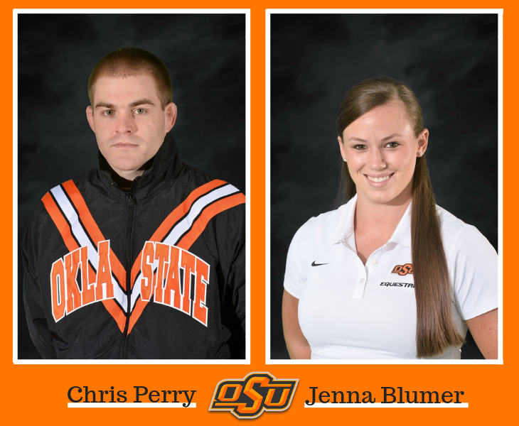 2014 Student Athletes of the Year Chris Perry and Jenna Blumer