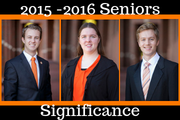 Three College of Education students selected as OSU Seniors of Significance