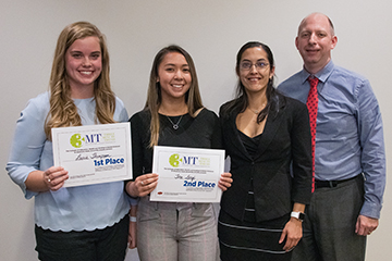 Laurie Thompson wins college 3MT competition