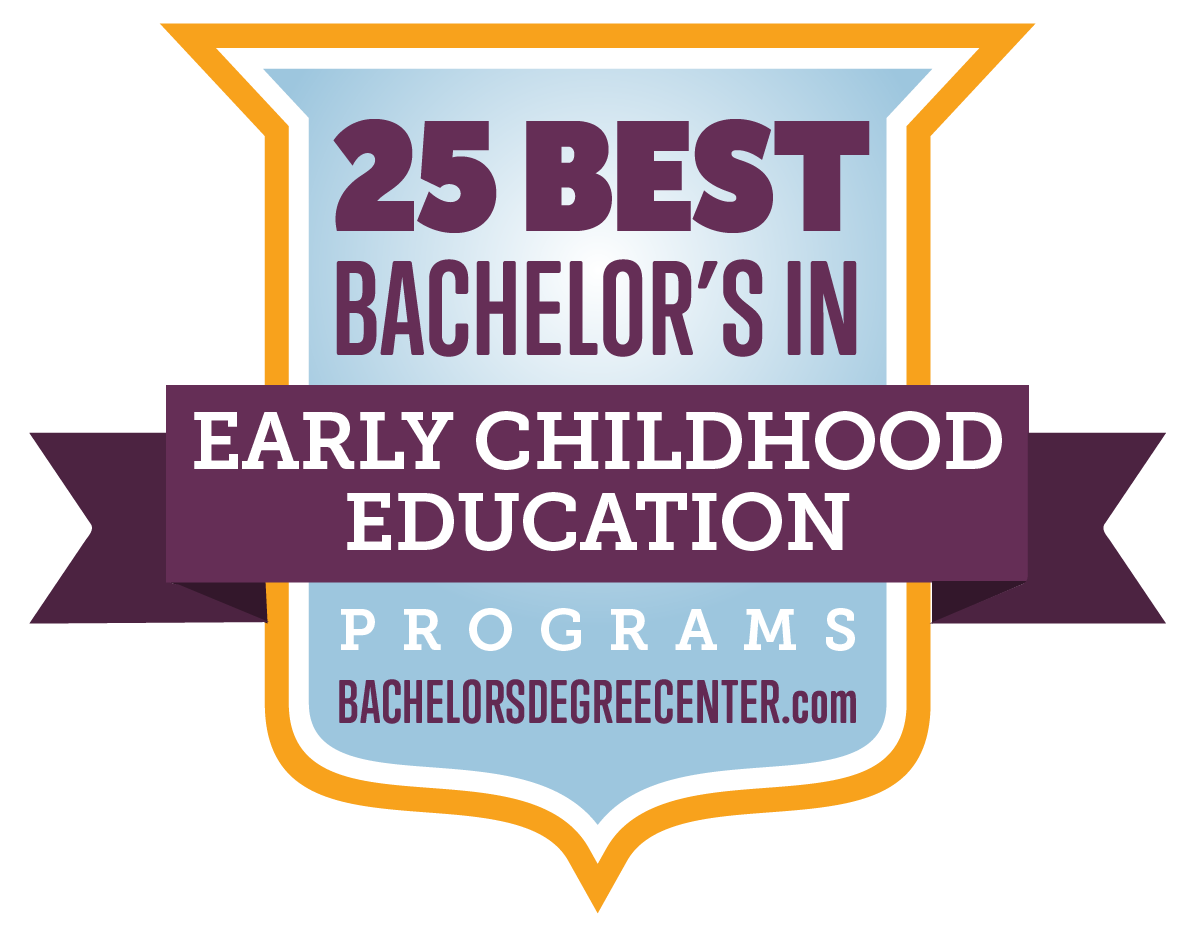 Badge for Ranking - 25 Best Bachelor's in Early Childhood Education Programs - bachelorsdegreecenter.com