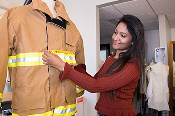 Designing fire-proof clothing with technology of the future