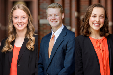 Three College of Human Sciences students selected as OSU Seniors of Significance