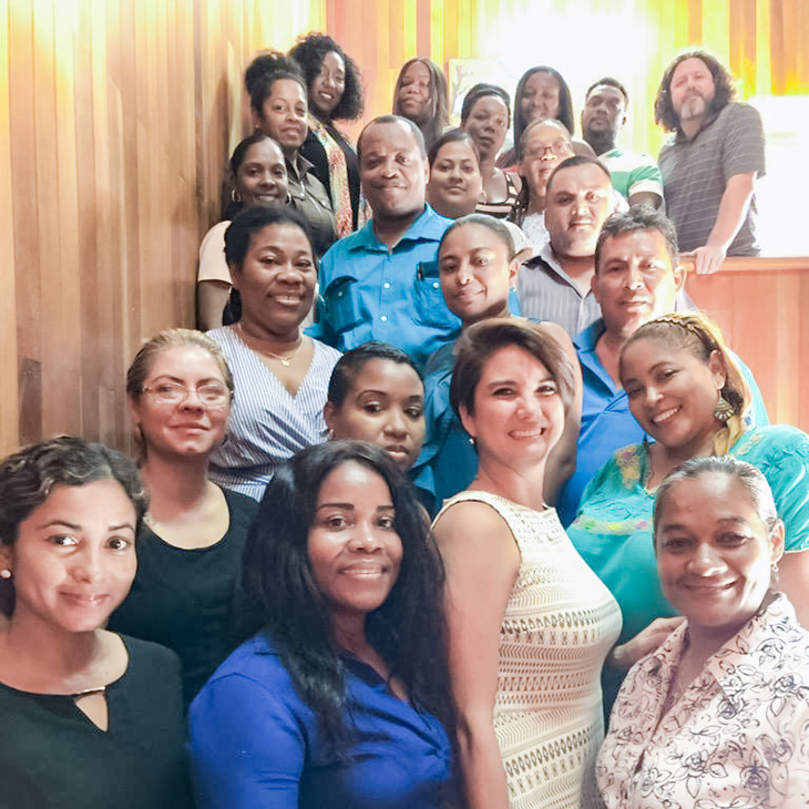 Students and faculty from now doctoral program in Belize