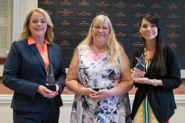 Two alumnae inducted to College of Education, Health and Aviation Hall of Fame