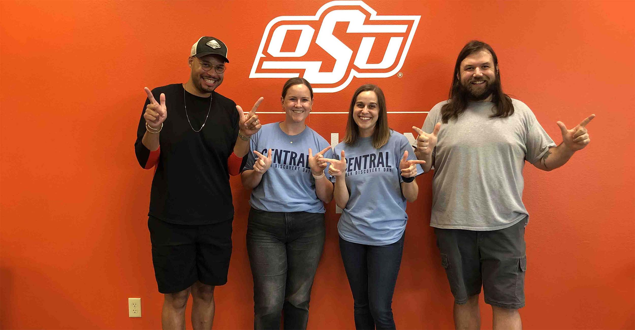 Higher Education and Student Affairs doctoral students Heath Collins, Katherine Koch, Claire Painter and Rodney Thornton.