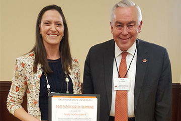 Carisa Ramming wins 2019 OSU Faculty Excellence Award