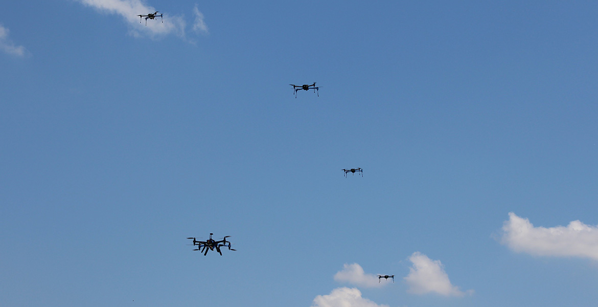 OSU's USRI receives first FAA authorization to fly in swarms