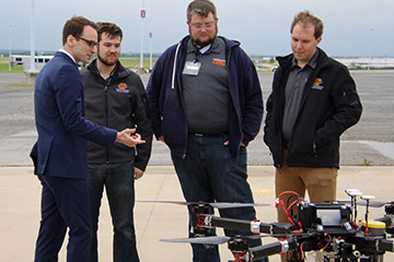 OSU UAS team presents to White House officials