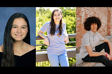 A strong foundation:  Three students awarded W.W. Allen Scholarships
